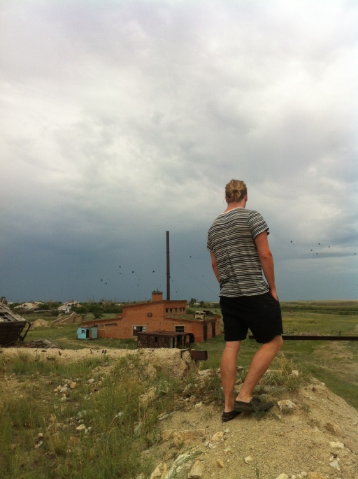 My pal Connor Moran being pensive in an abandoned village in Kazakhstan. We discovered it completely by accident.